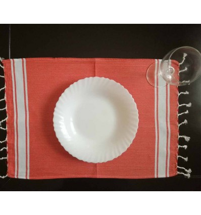 Mini fouta plate rouge